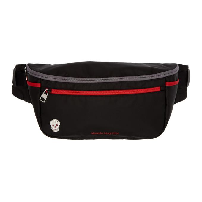 Photo: Alexander McQueen Black and Red Double Zip Bum Bag