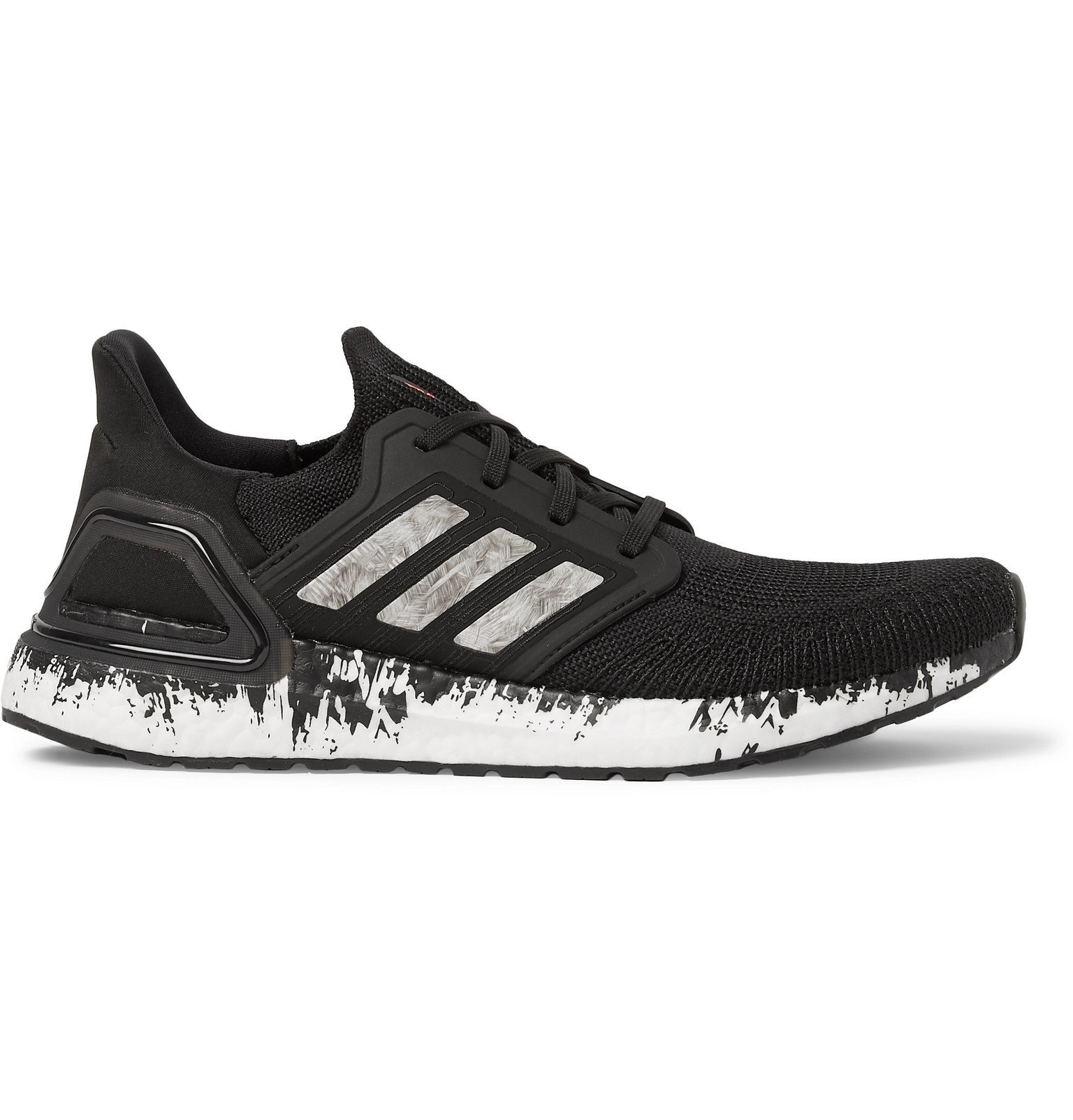 Photo: Adidas Sport - Ultraboost 20 Rubber-Trimmed PrimeKnit Running Sneakers - Black