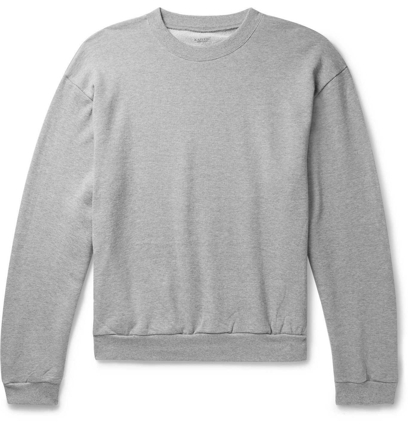 Photo: KAPITAL - Printed Loopback Cotton-Jersey Sweatshirt - Gray