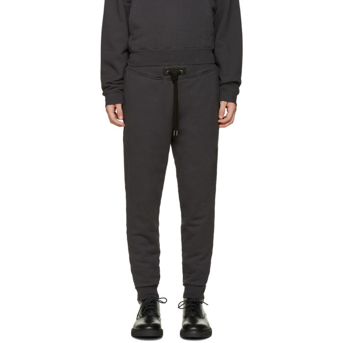 Photo: Robert Geller Grey Zipper Pocket Lounge Pants