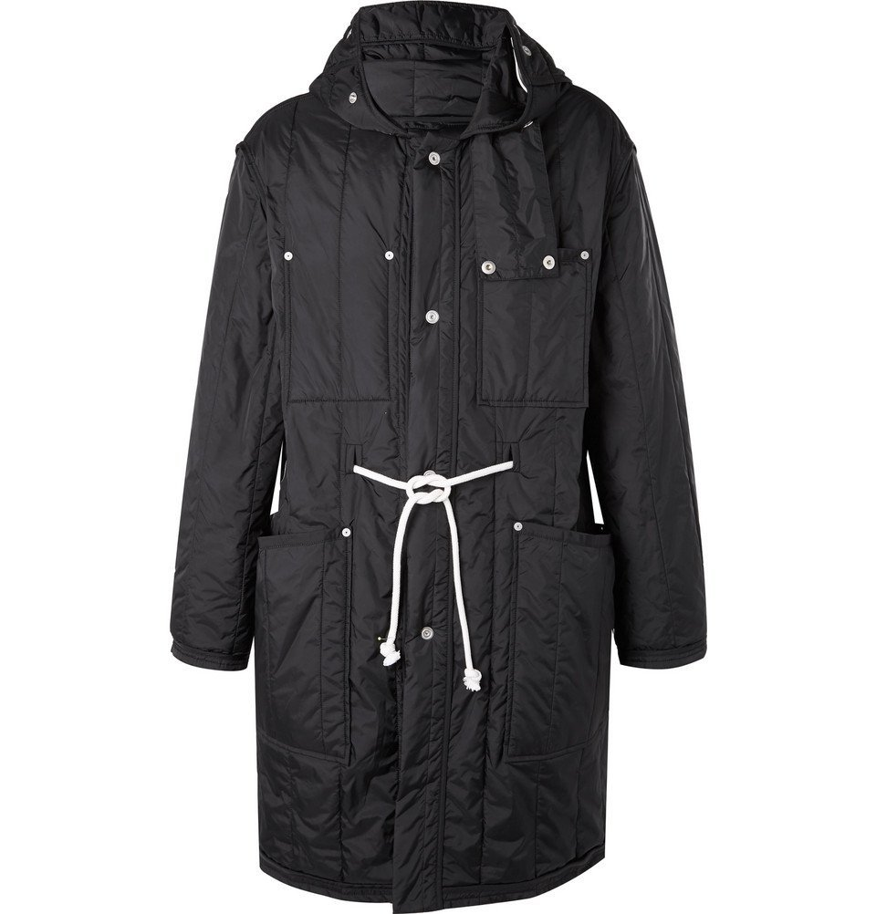 Photo: Maison Margiela - Quilted Shell Hooded Parka - Men - Black