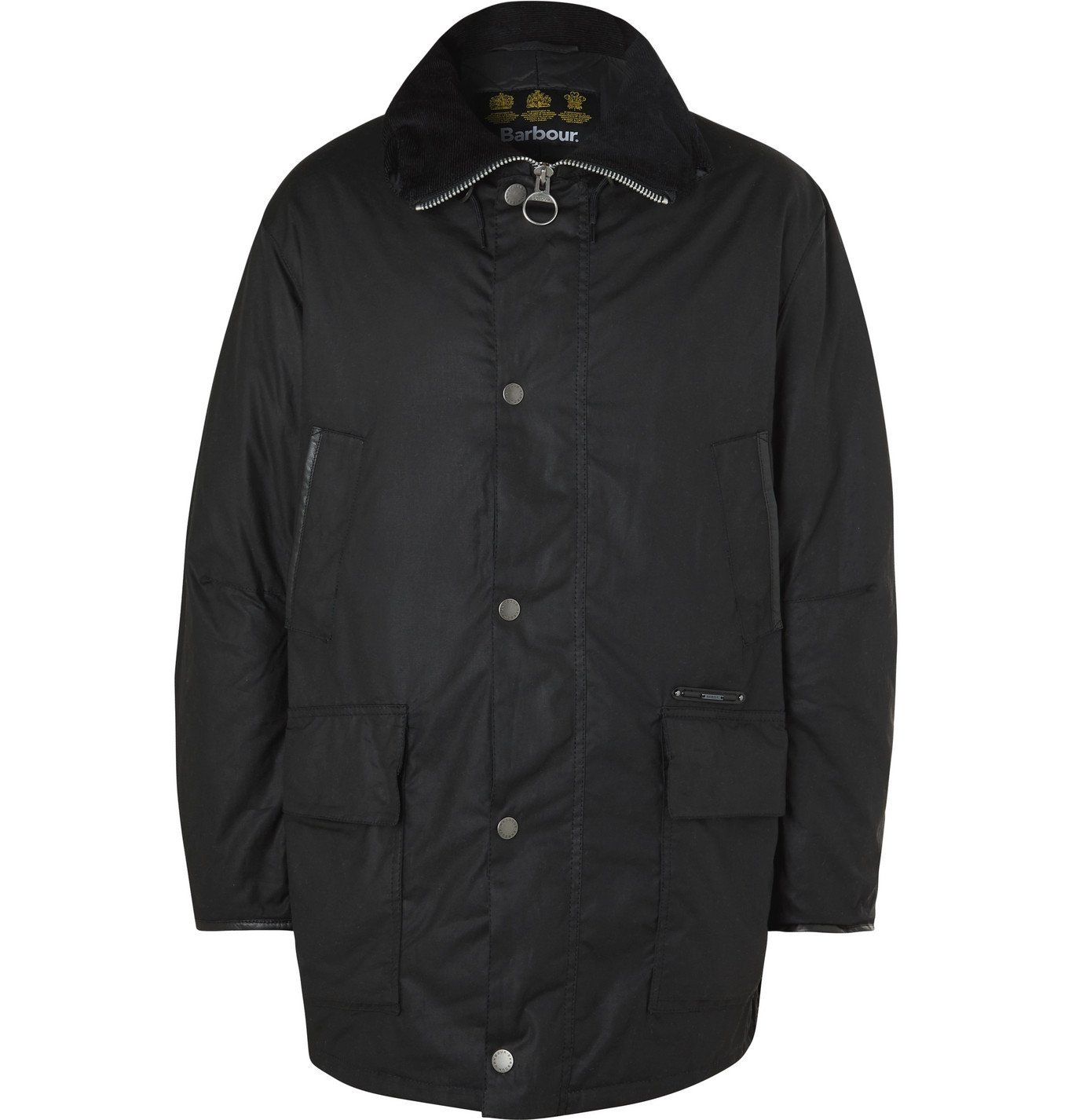 Photo: Barbour Gold Standard - Supa-Hunting Padded Waxed-Cotton Jacket - Black