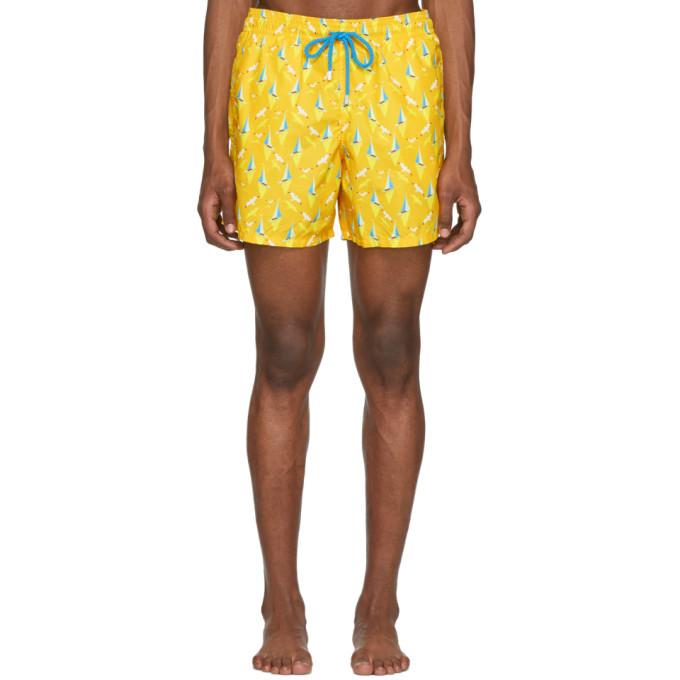 Photo: Vilebrequin Yellow Boat Moorea Swim Shorts