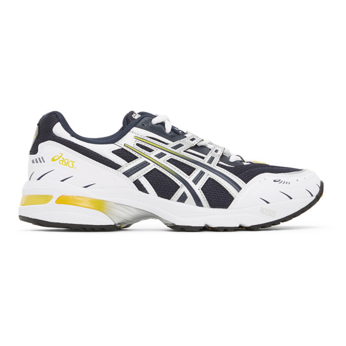 Photo: Asics Navy and Silver GEL-1090 Sneakers
