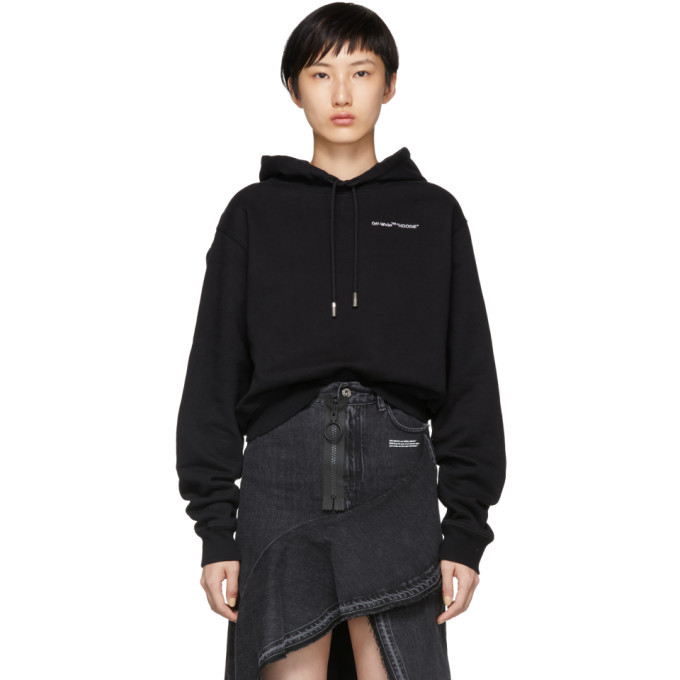 Photo: Off-White Black Quotes Cropped Hoodie