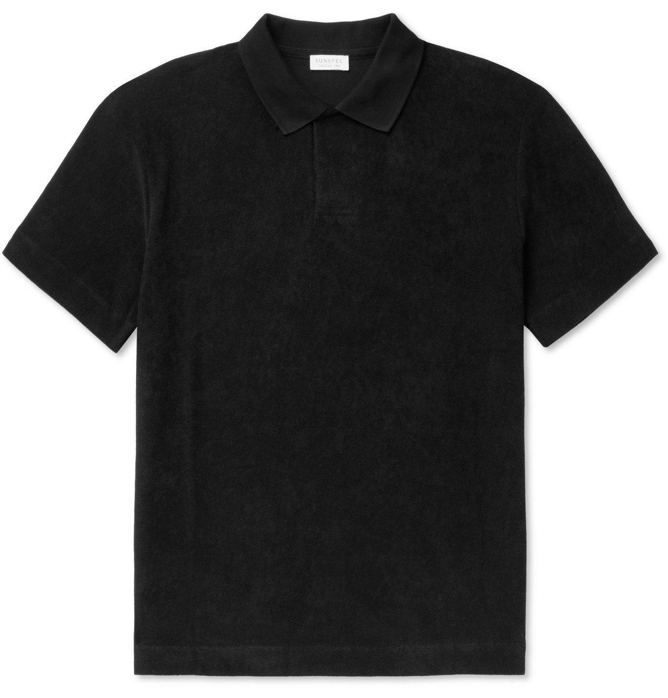 Photo: Sunspel - Cotton-Terry Polo Shirt - Black