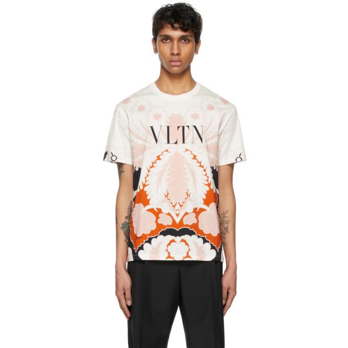 Photo: Valentino White and Pink VLTN T-Shirt