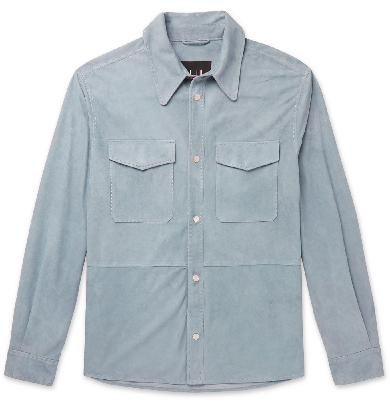 Dunhill - Suede Overshirt - Blue