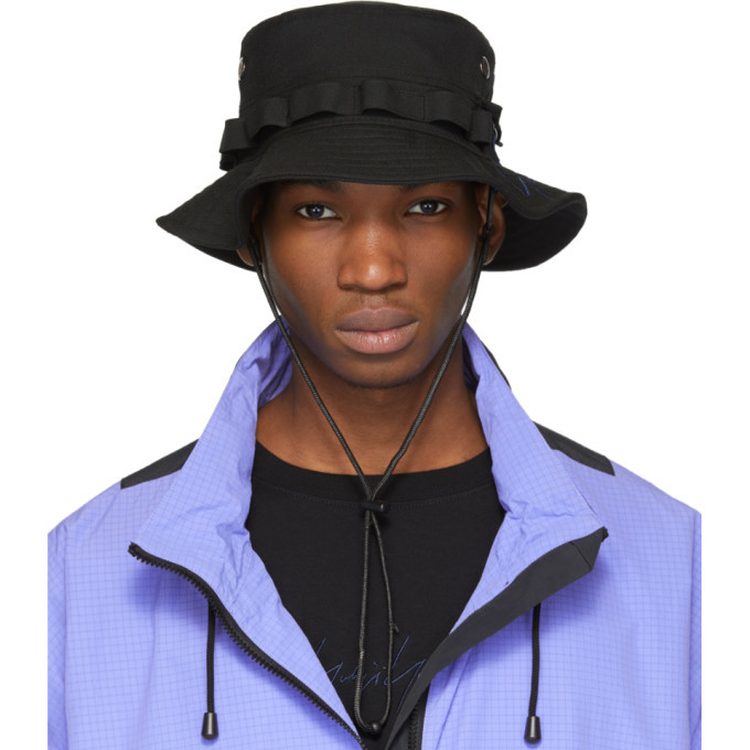 Photo: Yohji Yamamoto Black Wool Signature Bucket Hat
