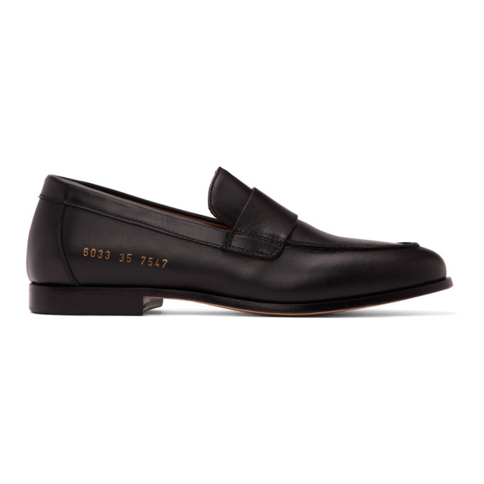 Photo: Common Projects Black Leather Loafers