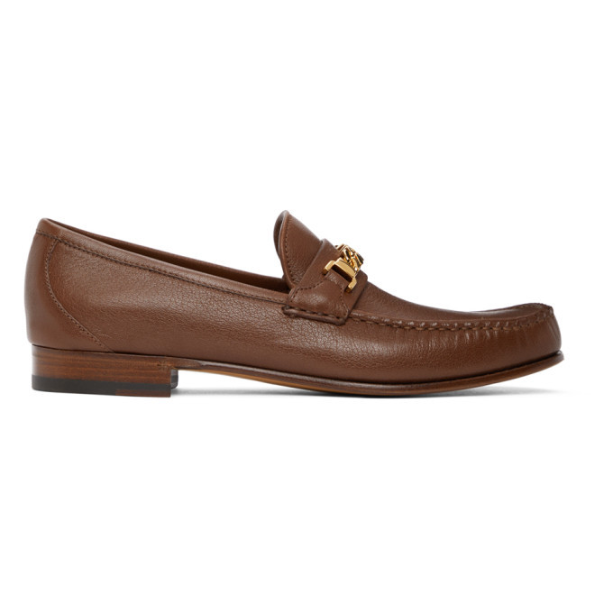 Photo: Gucci Brown Chain Loafers