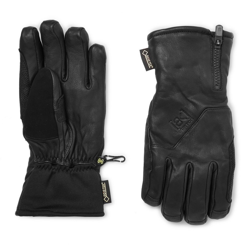 Photo: Burton - Guide Leather, GORE-TEX and Stretch-Jersey Gloves - Black