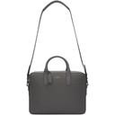 Smythson Grey Panama Slim Briefcase