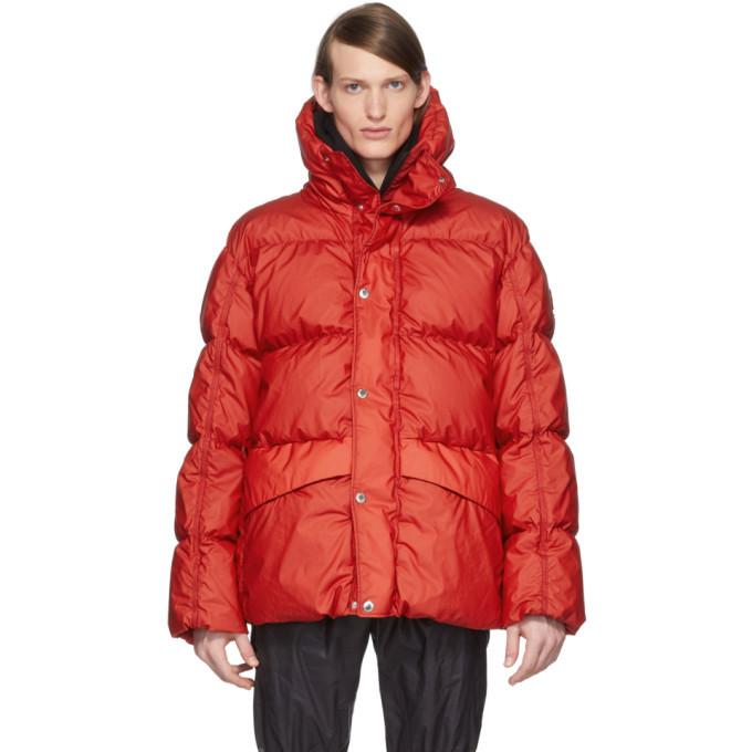 Photo: Moncler Genius SSENSE Exclusive 6 Moncler 1017 ALYX 9SM Red Eris Giubbutto Down Jacket