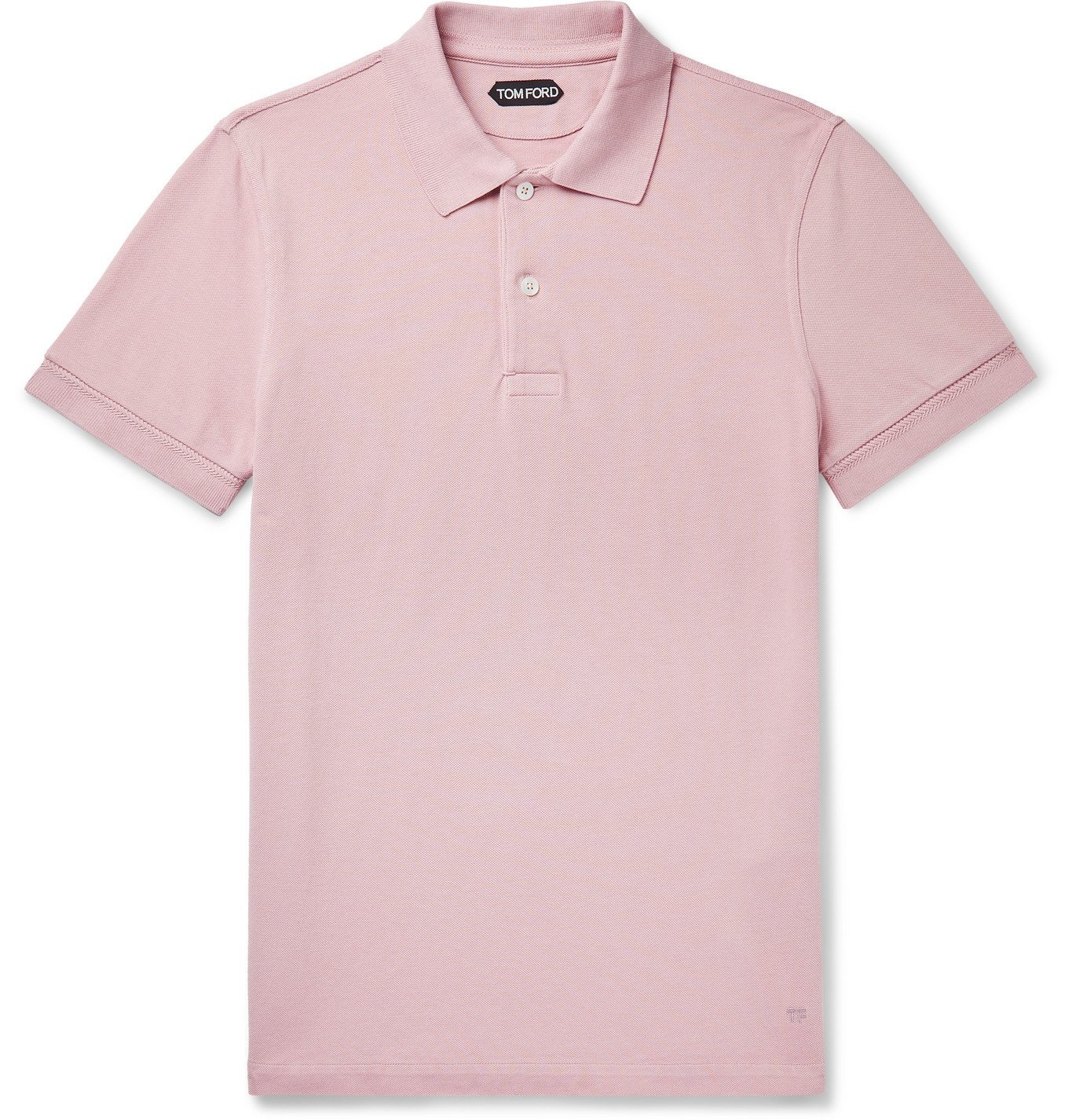 Photo: TOM FORD - Slim-Fit Cotton-Piqué Polo Shirt - Pink