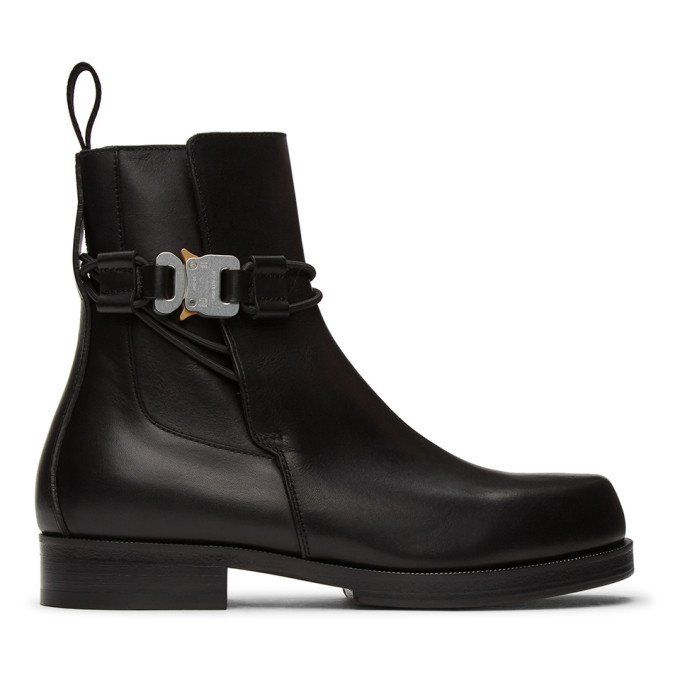 Photo: 1017 ALYX 9SM Black Buckle Chelsea Boots