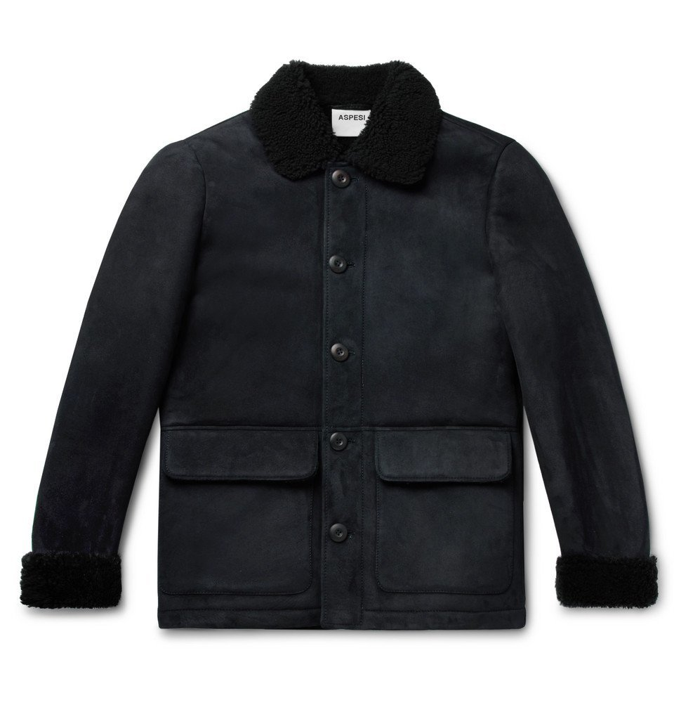Photo: Aspesi - Shearling Jacket - Midnight blue