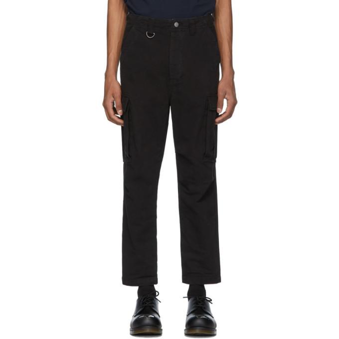 Ksubi Black Kraft Cargo Pants