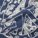 KAPITAL - Printed Cotton Bandana - Blue