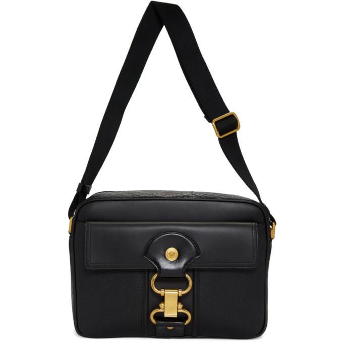 Photo: Versace Black Damysus Messenger Bag
