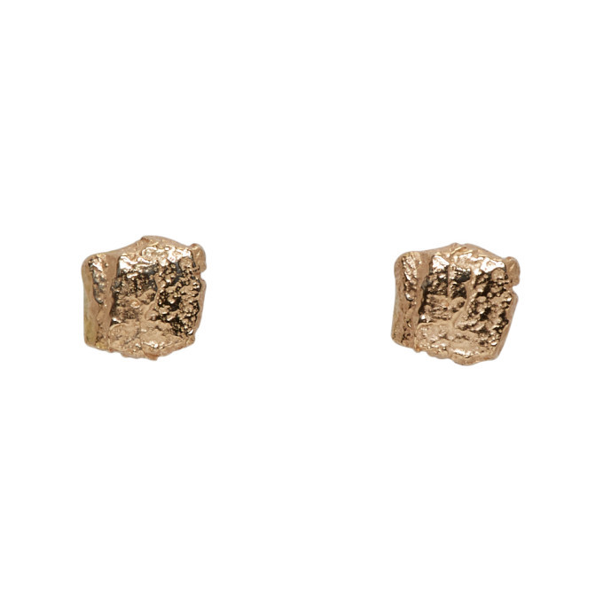 Photo: Pearls Before Swine Gold Forged Stud Earrings
