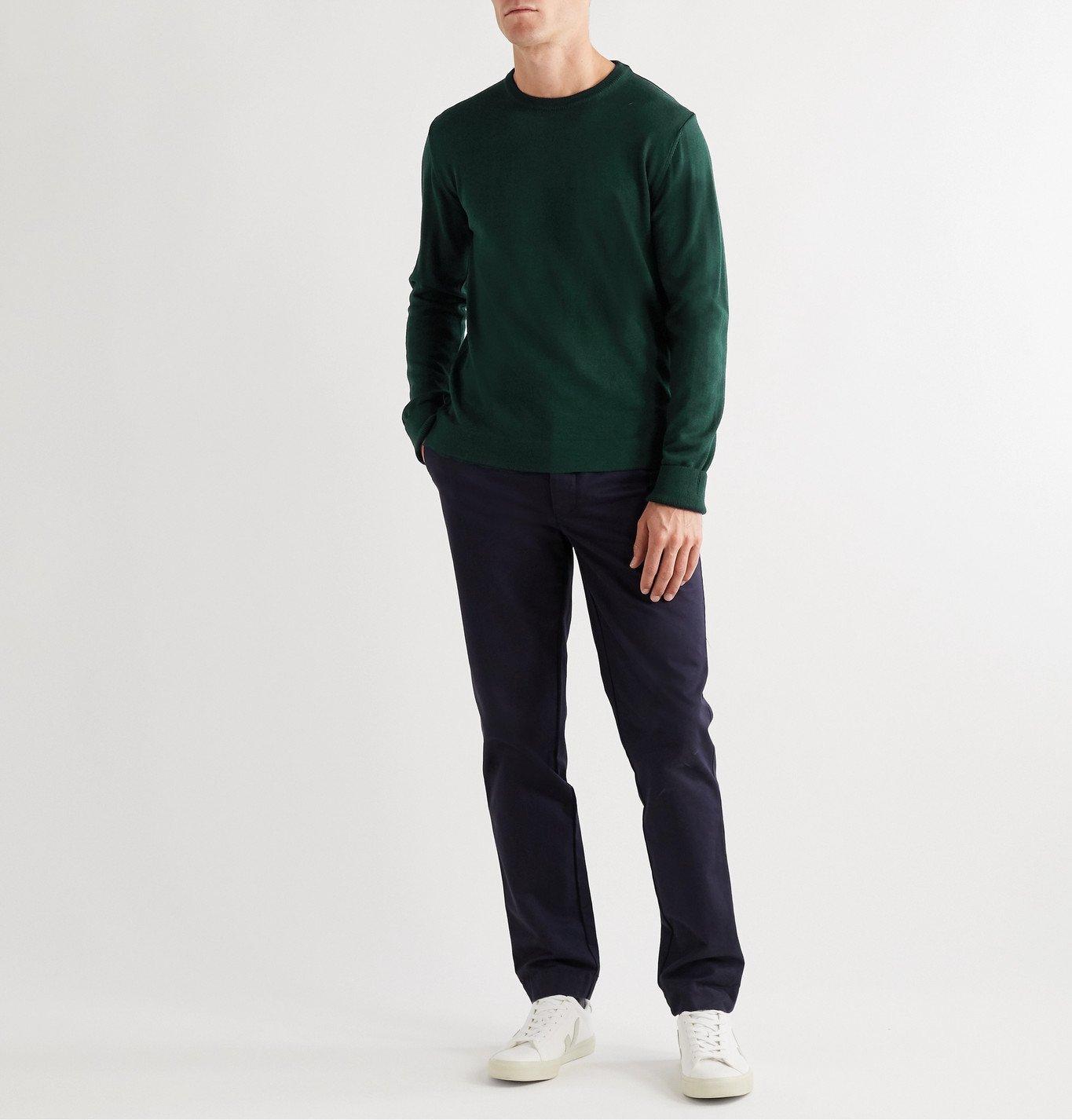 Officine Generale - Nina Slim-Fit Virgin Wool Sweater - Green