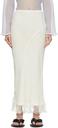 Acne Studios White Linen Fringed Skirt