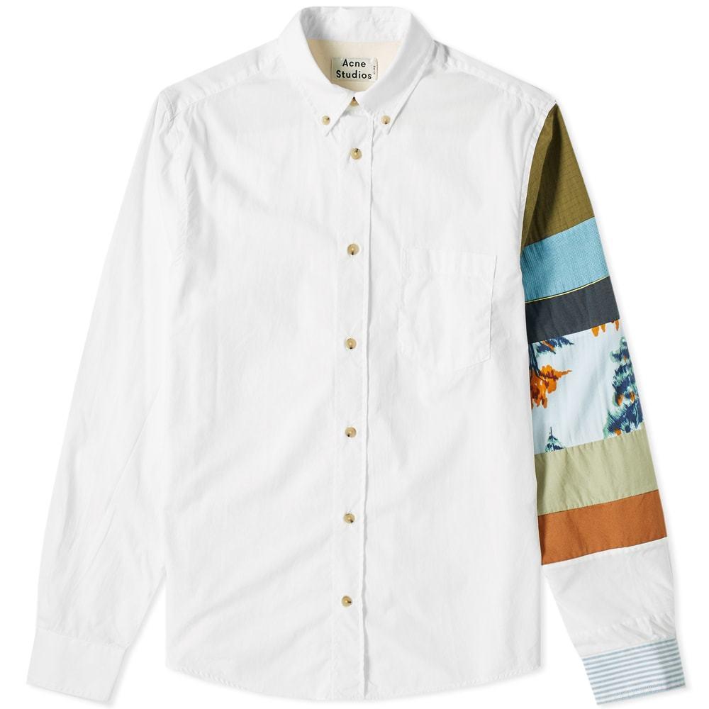 Photo: Acne Studios Sarkis Sleeve Patchwork Shirt