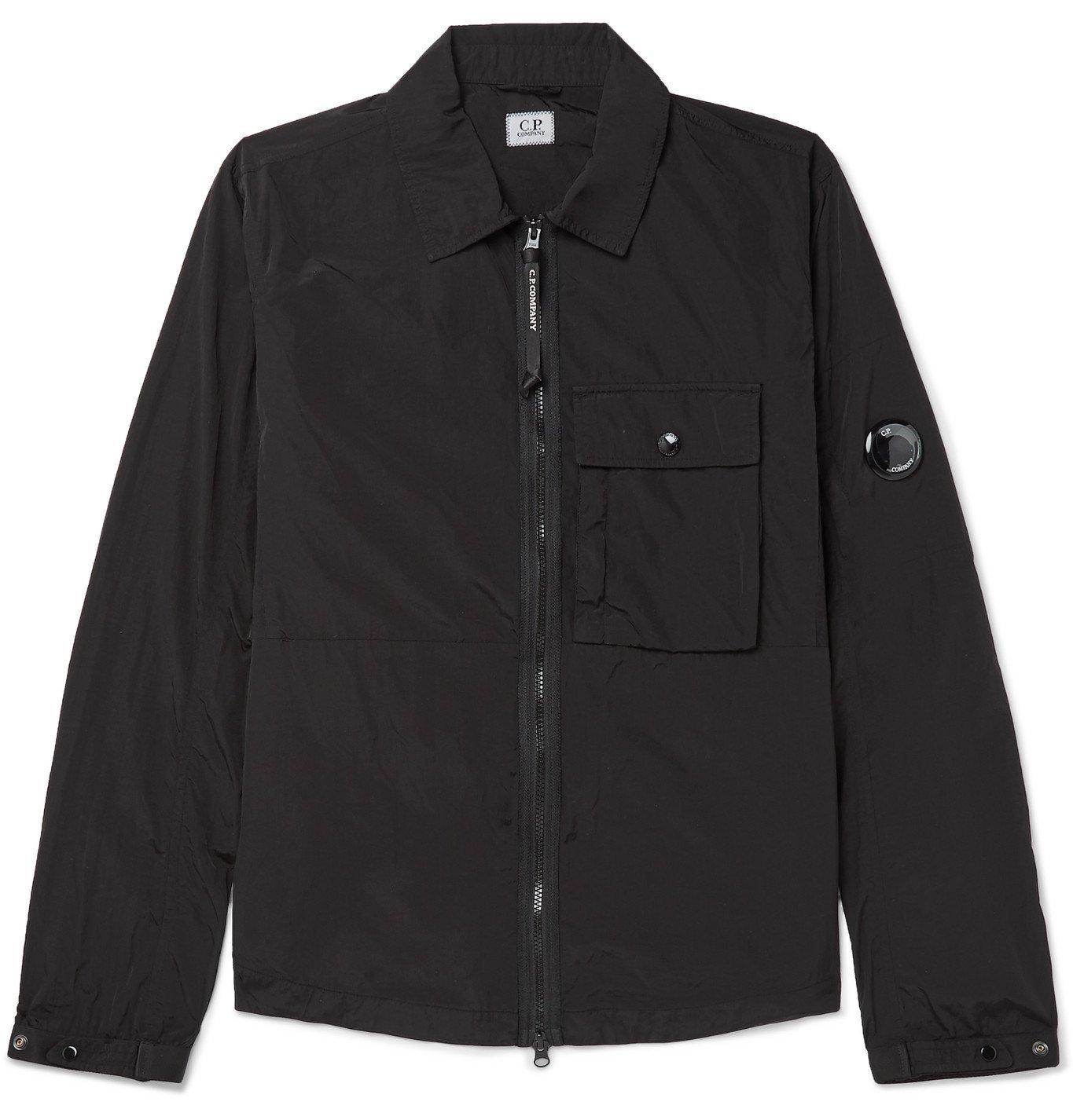 C.P. Company - Garment-Dyed Nylon Overshirt - Black