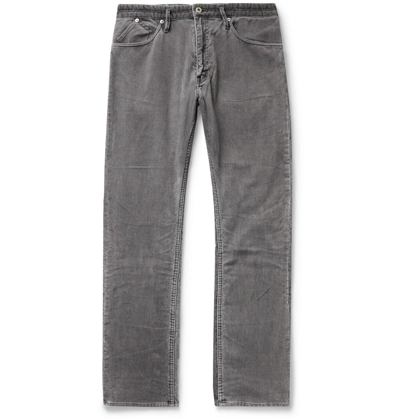 Photo: nonnative - Dweller Slim-Fit Cotton-Blend Corduroy Trousers - Gray
