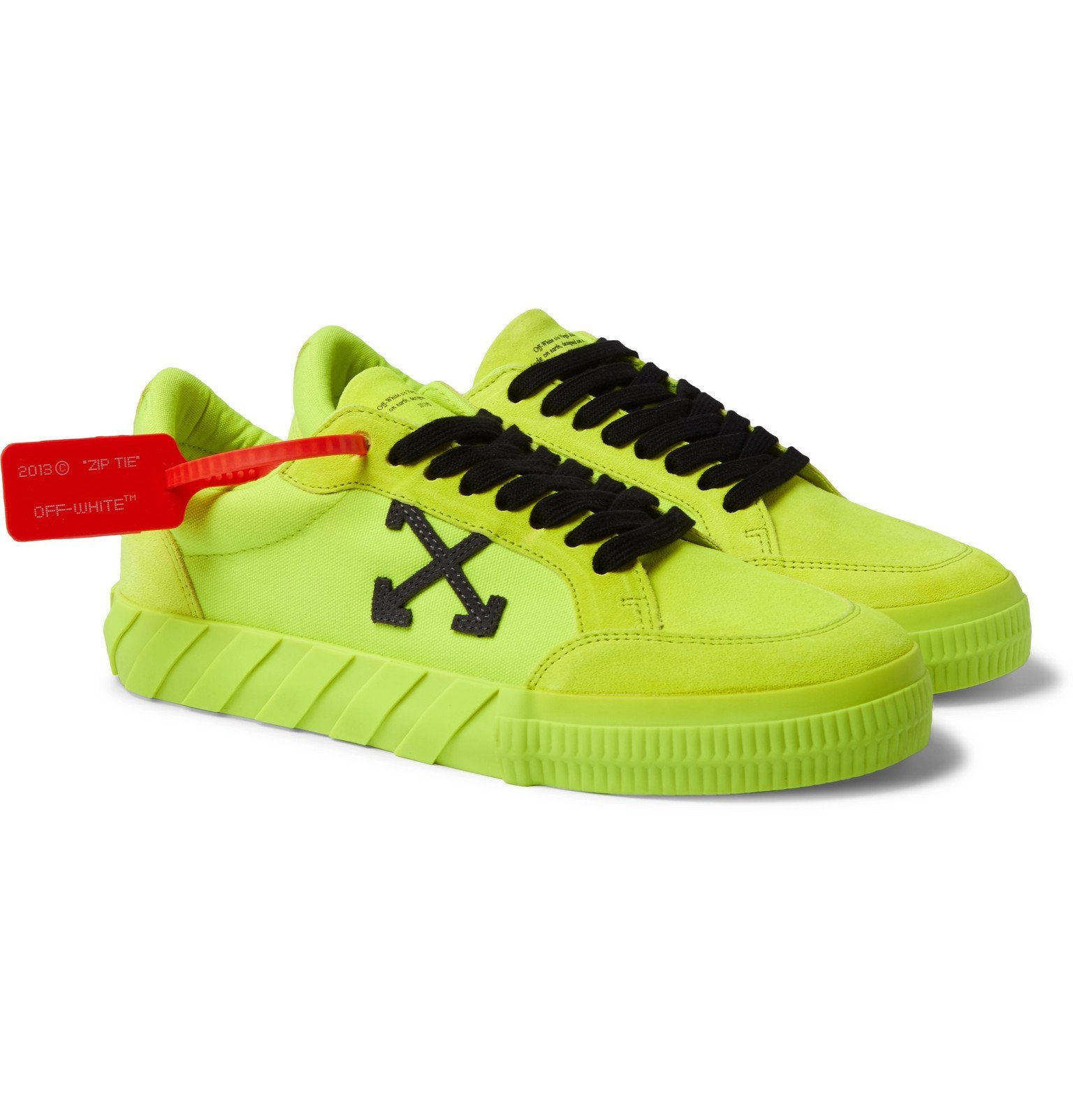 Neon Canvas and Suede Sneakers