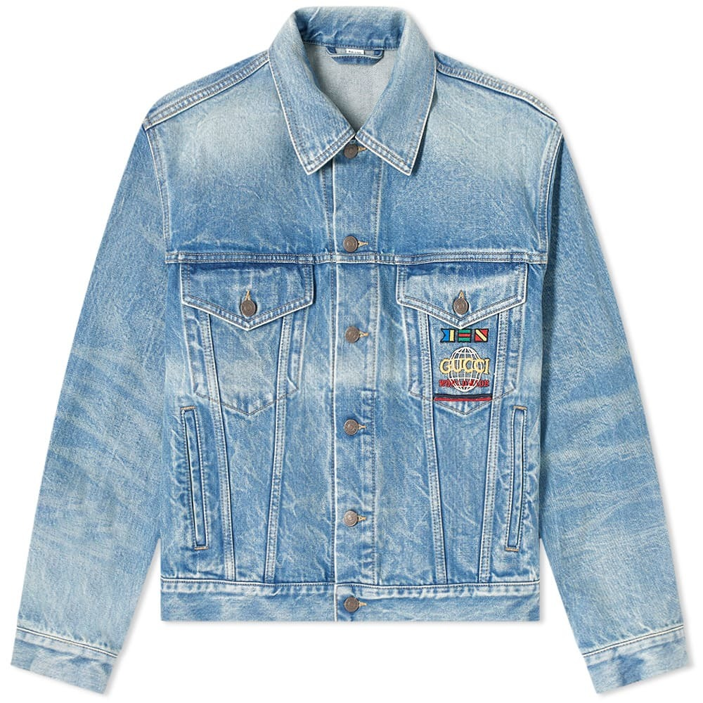 Photo: Gucci Nautical Logo Pocket Denim Jacket