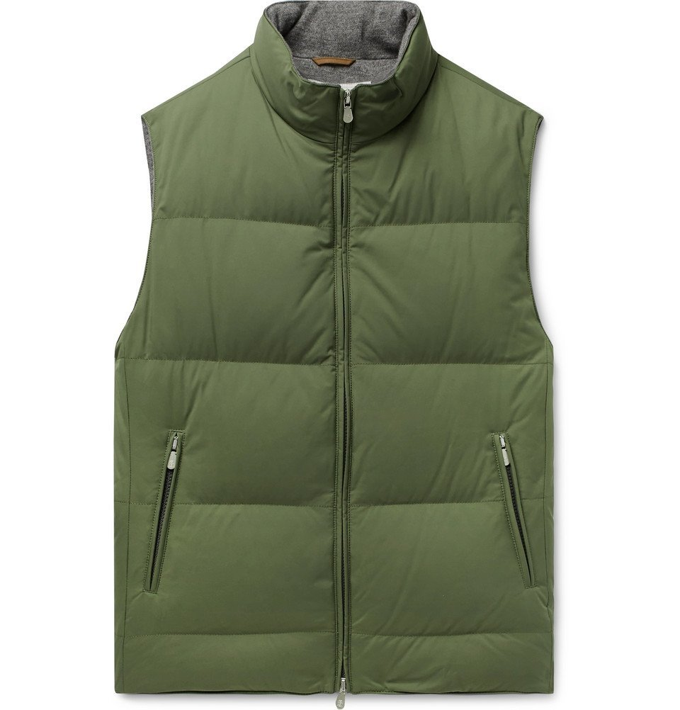 Photo: Brunello Cucinelli - Quilted Nylon Down Gilet - Green