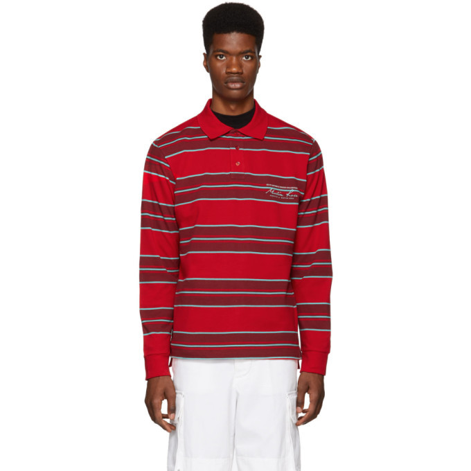 Photo: Martine Rose Red and Green Polo Shirt