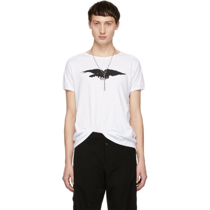 Photo: Ann Demeulemeester White Fine Raven T-Shirt