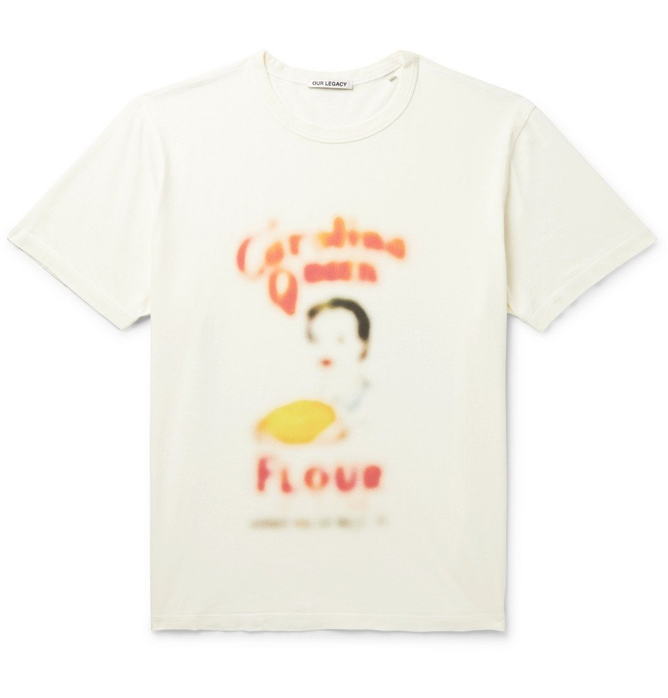 Photo: Our Legacy - Printed Cotton-Jersey T-Shirt - White