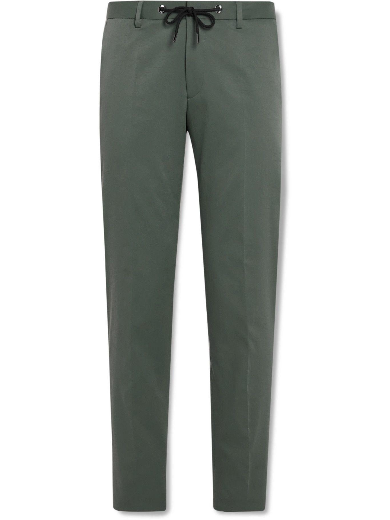 Photo: HUGO BOSS - Bardon Slim-Fit Twill Drawstring Suit Trousers - Green