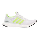 adidas Originals White and Green Ultraboost DNA Sneakers