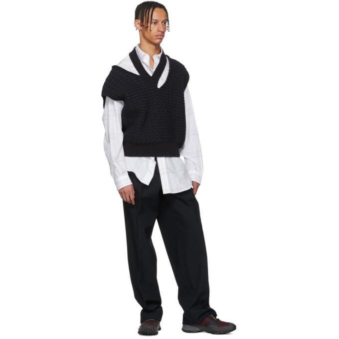 Raf Simons White Elastic Back Shirt