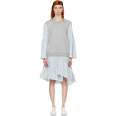 3.1 Phillip Lim Grey French Terry Combo Dress
