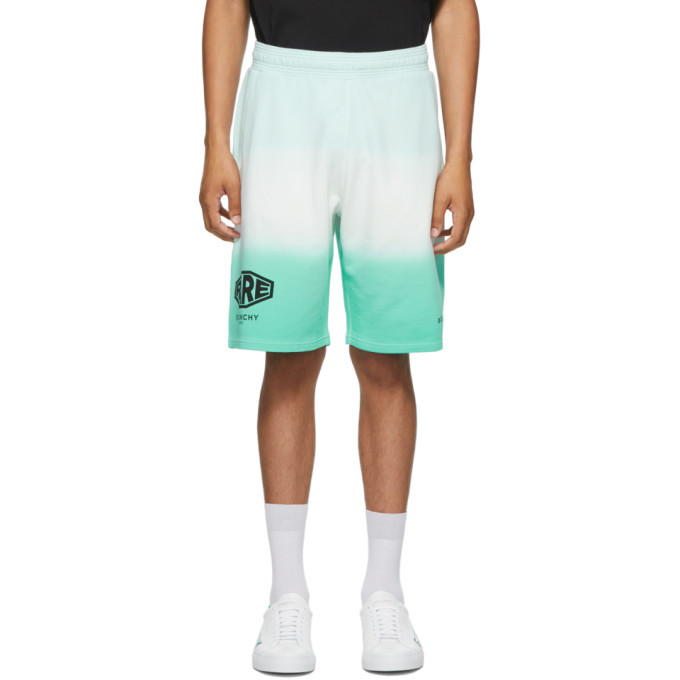 Photo: Givenchy Green Faded Effect Studio Homme Shorts