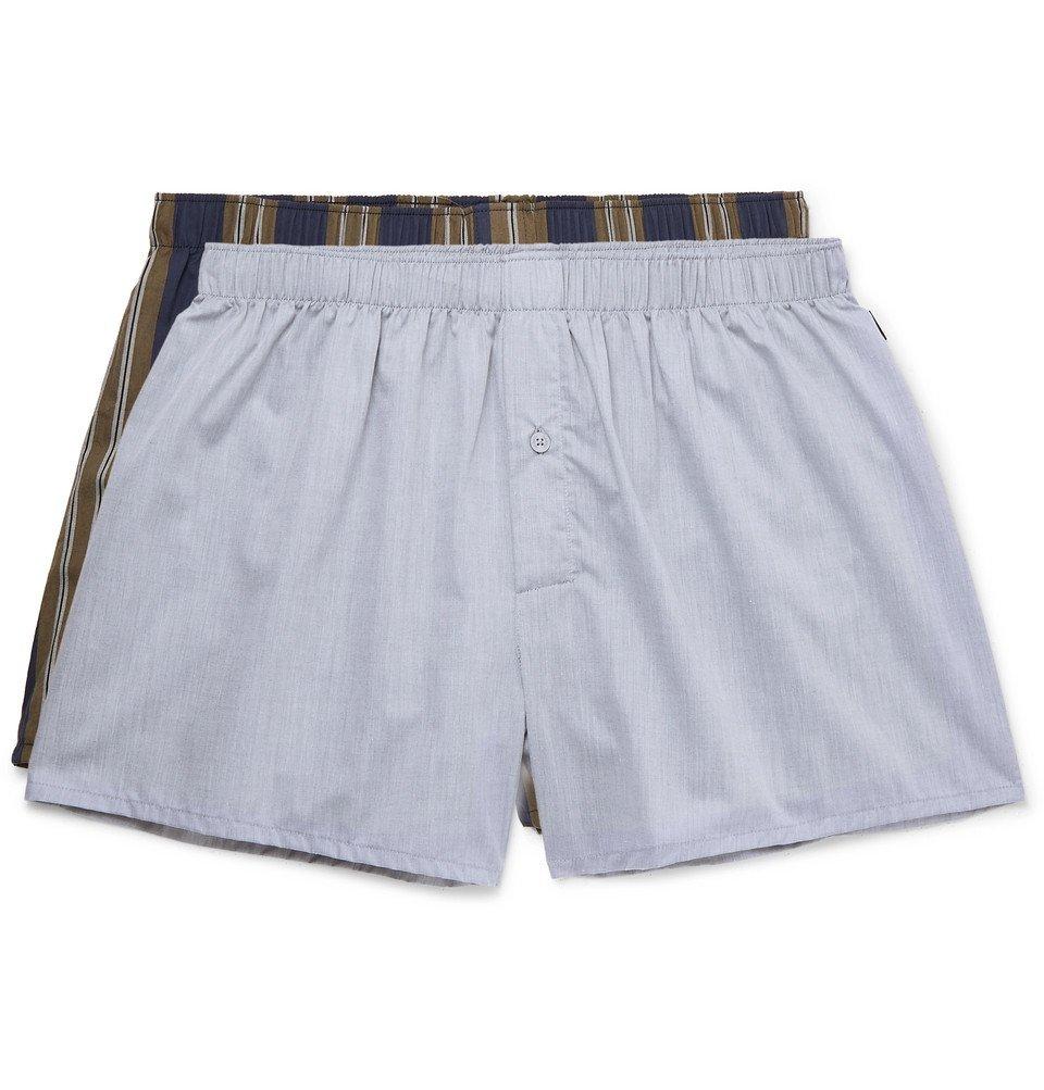 Hanro - Two-Pack Cotton Boxer Shorts - Multi