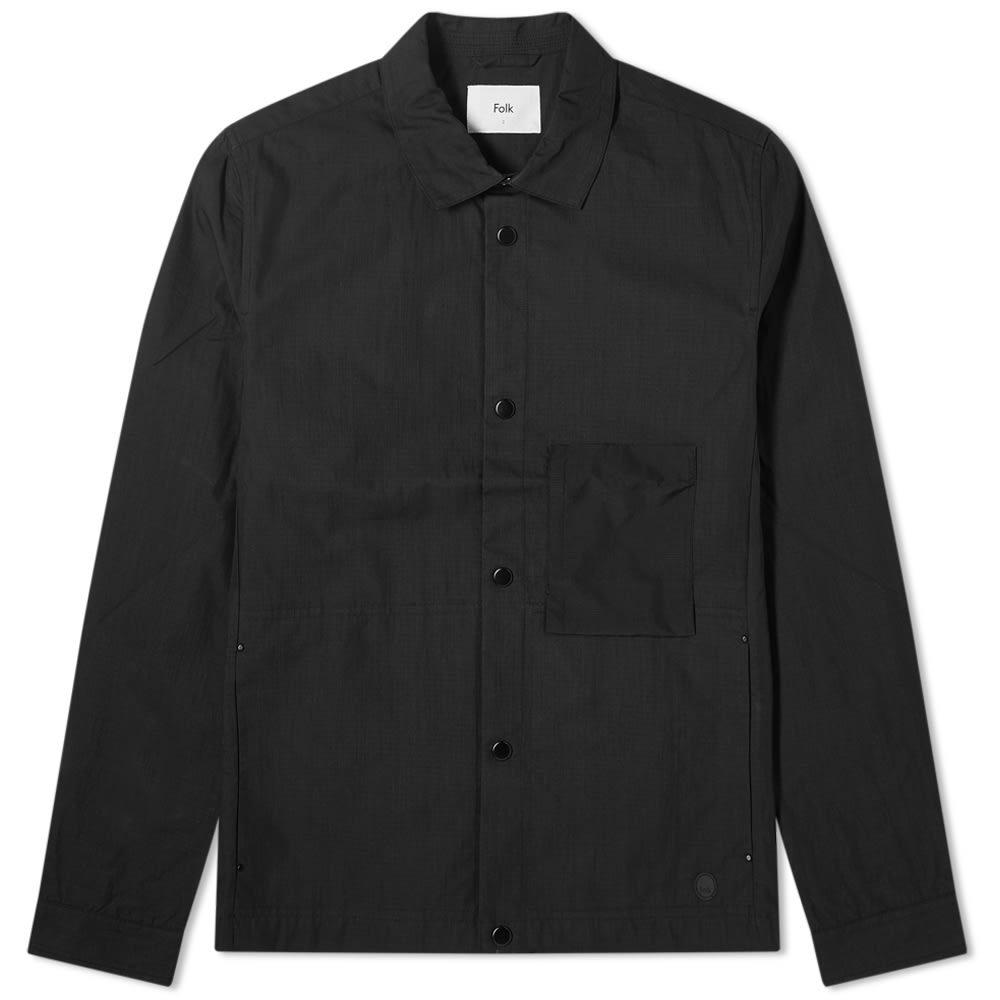 Photo: Folk Stack Nylon Button Up Jacket