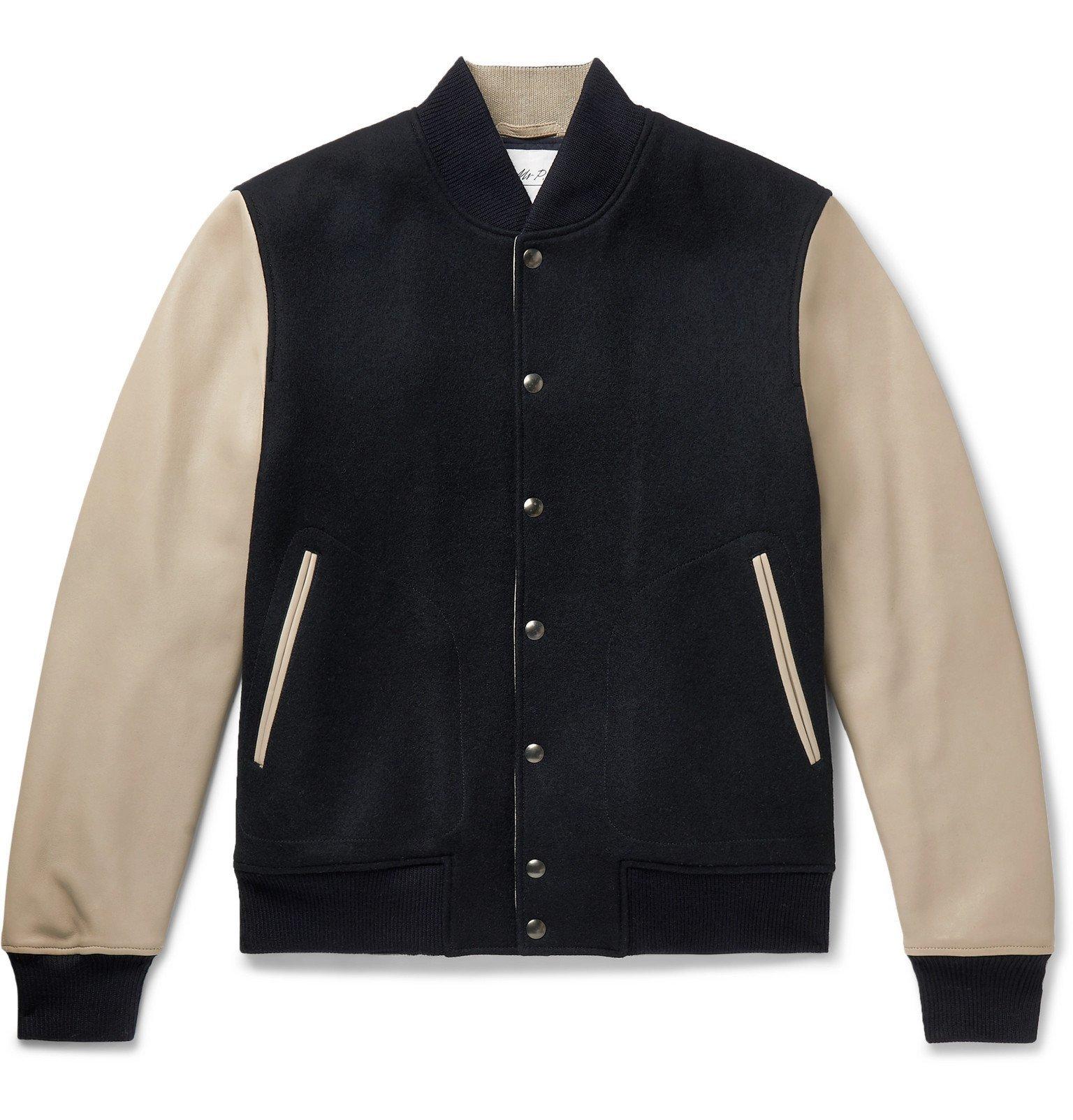 Photo: Mr P. - Melton Wool and Leather Bomber Jacket - Blue