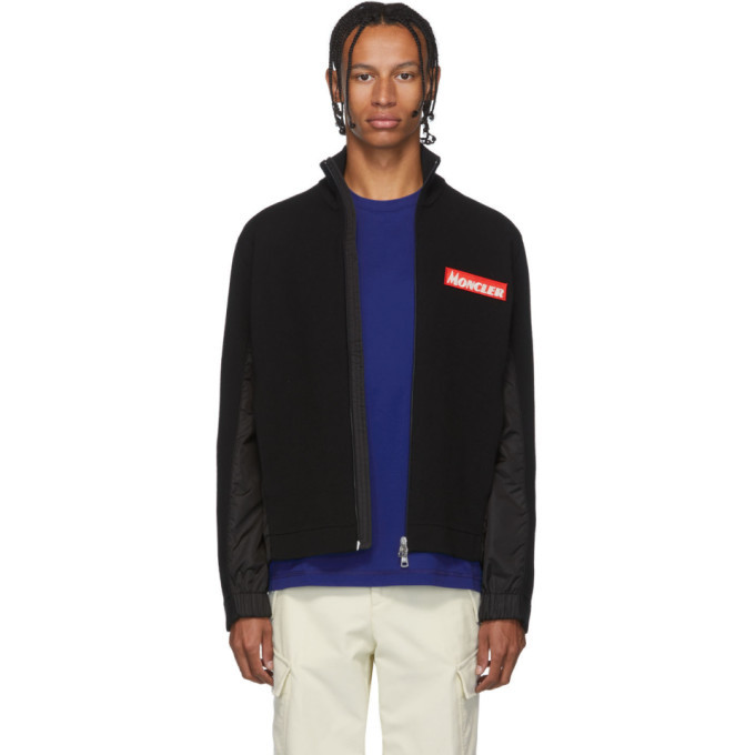 Photo: Moncler Black Maglione Tricot Jacket