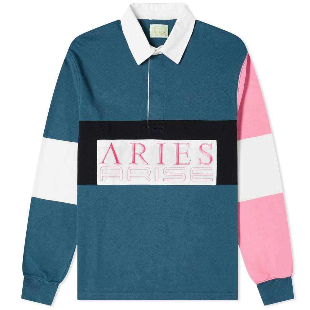 Aries Colour-Blocked Rugby Shirt