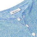 Schiesser - Helmut Striped Linen-Jersey Henley T-Shirt - Blue