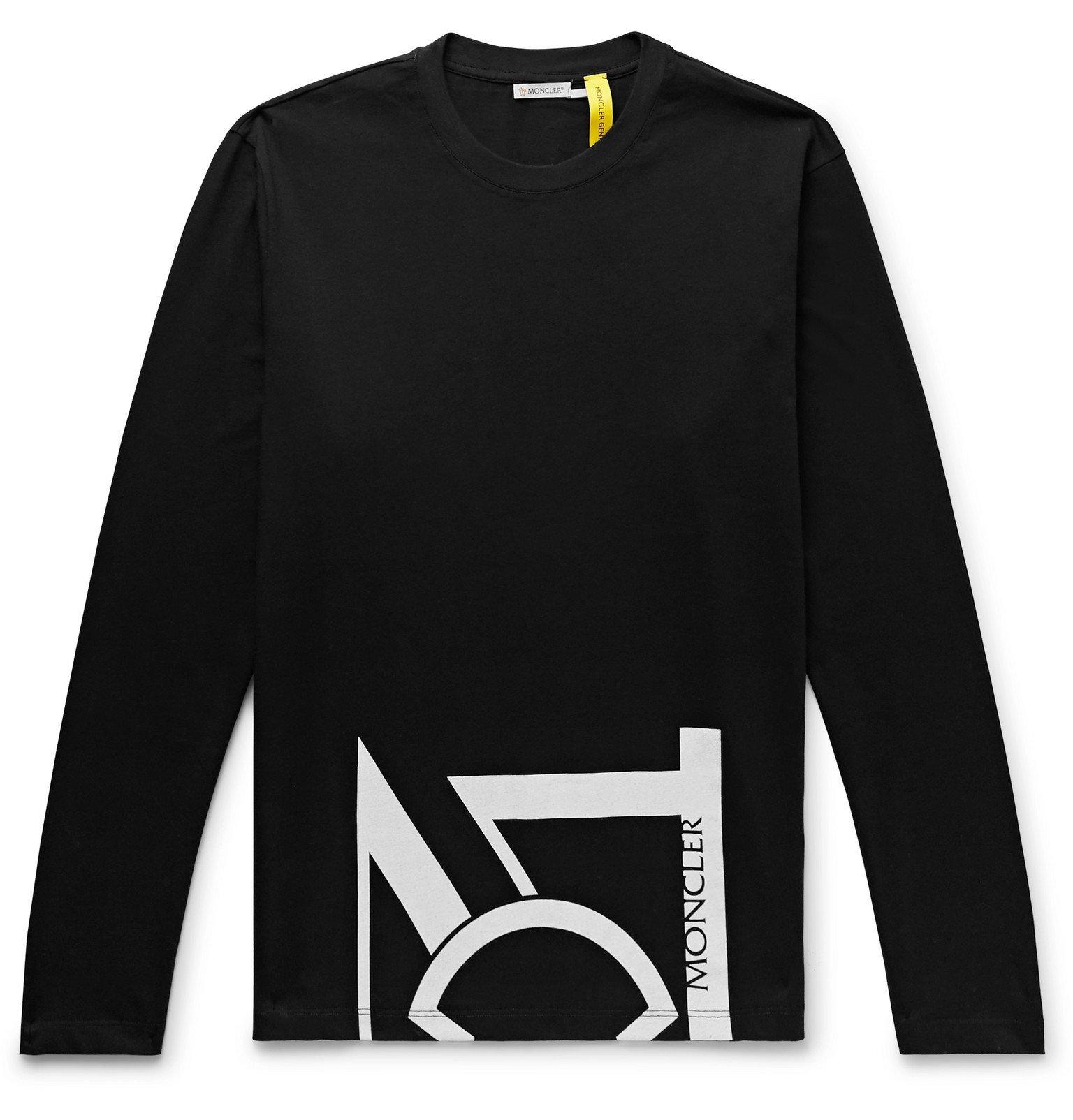 Photo: Moncler Genius - 5 Moncler Craig Green Maglia Logo-Print Cotton-Jersey T-Shirt - Black