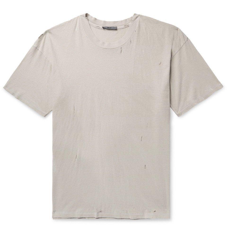 Photo: BILLY - Westlake Distressed Cotton-Jersey T-Shirt - Stone