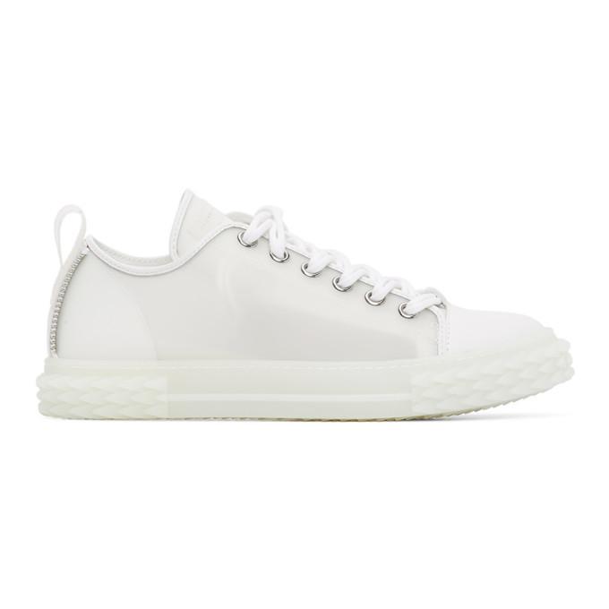 Photo: Giuseppe Zanotti White Window Blabber Sneakers